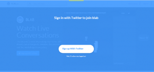 blab sign in with twitter