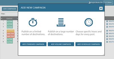 add new campaign