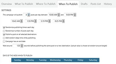 when to publish in massplanner