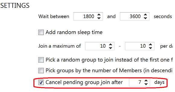 cancelling group join request in facebook groups automatically