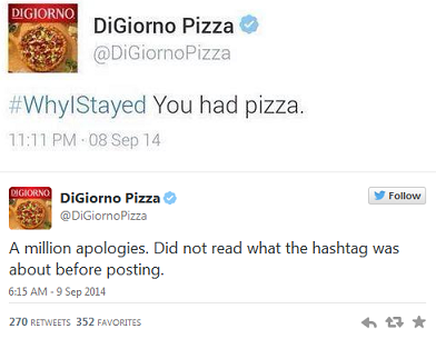 digiorno twitter hastag fail