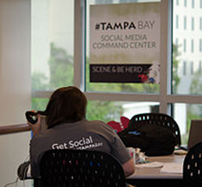 The tampa bay social media command center