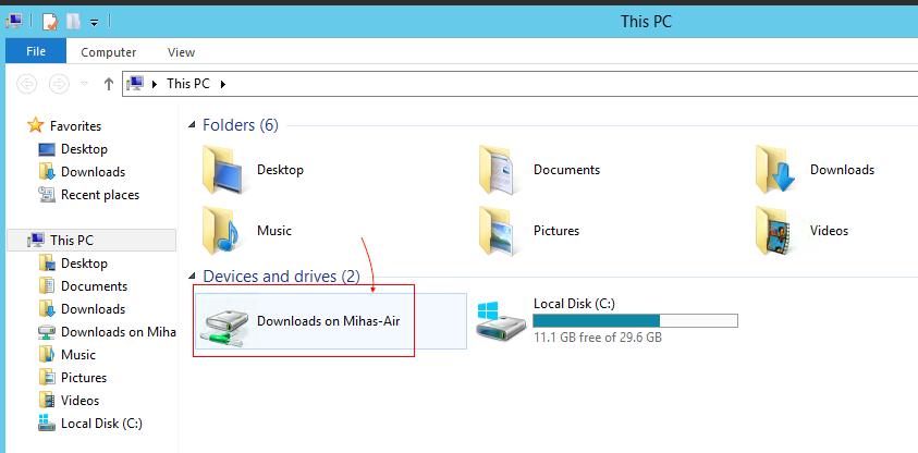 See local Mac folder on VPS
