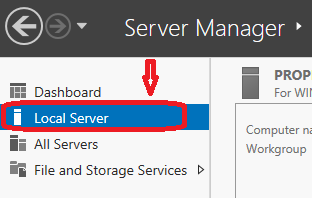 click on local server