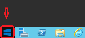 click on the start menu on your server