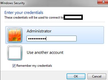 enter your amazon vps credentials 2