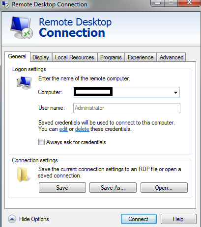 remote connections options