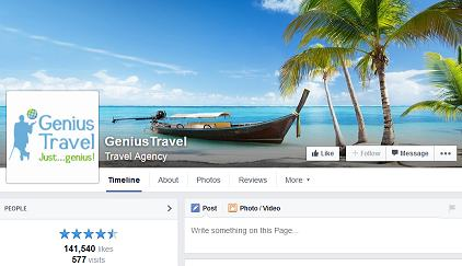 example facebook travel page