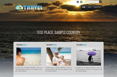 free travel wordpress theme sample