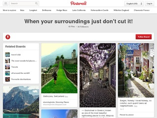 here's a nice example of a travel board on pinterest