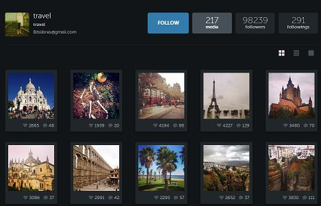 travel account example on instagram