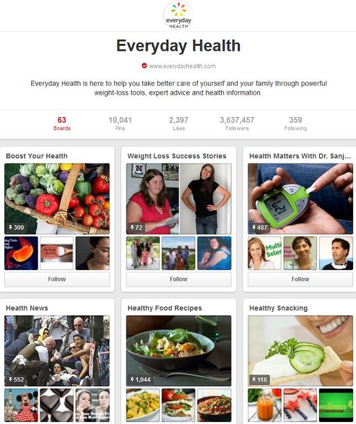 everyday health pinterest boards