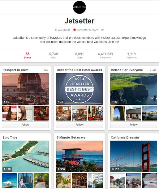 jetter pinterest page