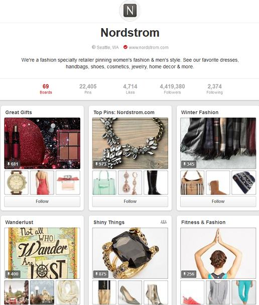 nordstrom pinterest account