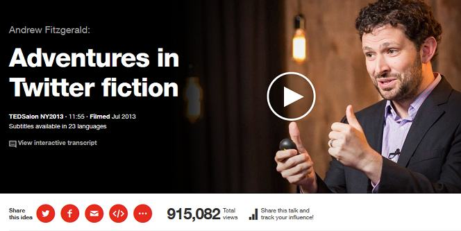 ted talks - adventures in twitter fiction