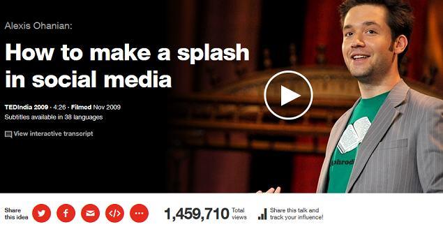 ted talks - how to make a splash in social media