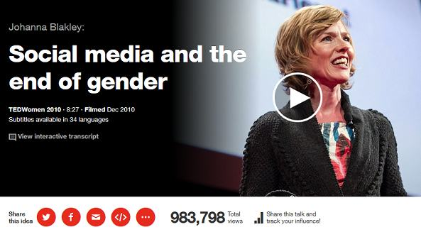 ted talks - social media and the end of gender