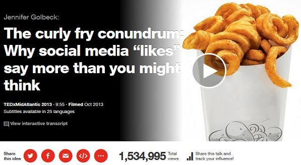 ted talks - the curly fry conundrum